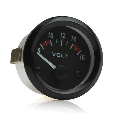 2 Inch 52mm 8-16V Boat Auto Car Voltmeter Volt Voltage Gauge Meter LED Indicator