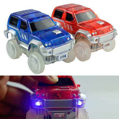 Bend A Path Toy Track Accessory Light Up SUV's Toy Car for Kids Children