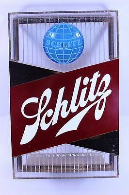 1959 SCHLITZ BEER CASH REGISTER SIGN - MANF. by  HAMMER BROTHERS CHICAGO