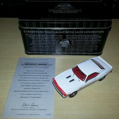 Matchbox Platinum Collectibles 92686 1968 Chevrolet Camaro SS396 Select Edition