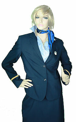 original Female Flight Attendants Uniform | HELLO Airlines | SIZE 34 | mit Hose