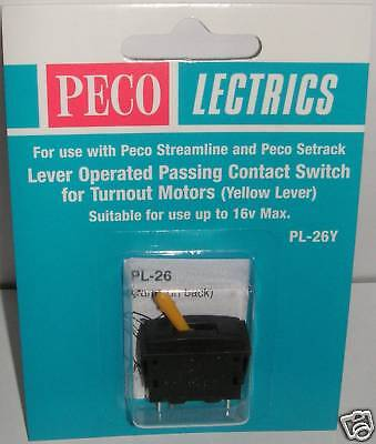 Peco PL-26Y Yellow Lever Operated Passing Contact. NEW  (Model Railways)