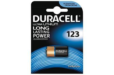 Duracell 656.990UK High Quality CR123 Ultra Lithium Long Lasting Power Battery