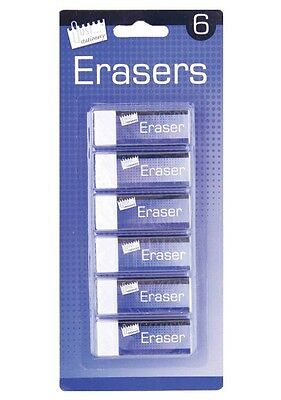 Quality White Soft Eraser Stationery School Office Pencil Rubber Party Gift 6360