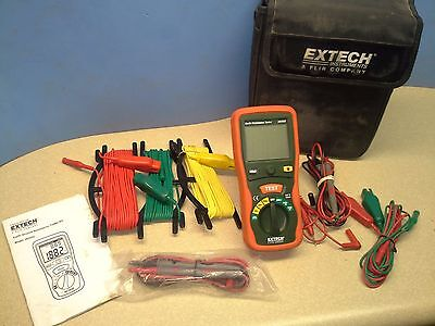 Extech Earth Resistance Tester Kit Model 382252 with Carrying Case