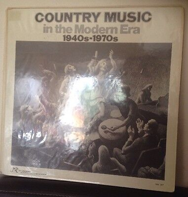 COUNTRY MUSIC In The Modern Era 1940s-1970's - 1976 Vinyl LP - NW207 Dolly/Elvis
