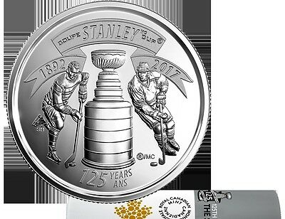 2017 CANADA .25¢ QUARTER 125th ANNIVERSARY OF STANLEY CUP SPECIAL EDITION COIN