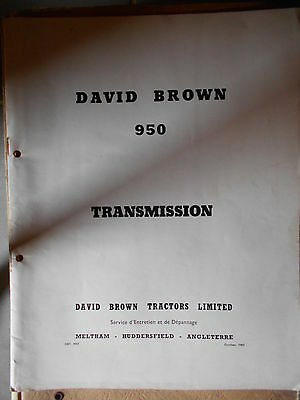 David Brown transmission sur tracteur 950 : manuel d'atelier