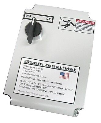 Elimia Magnetic Switch Controller, Nema 4X Enclosure, 40 Amp 120V 1 or 3 Phase