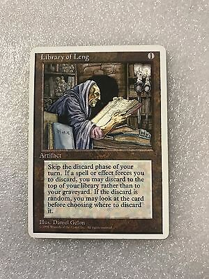 Magic the Gathering MTG - Library of Leng - 4th Edition