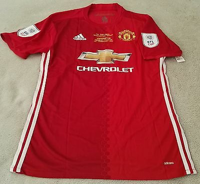 Manchester United Zlatan Ibrahimovic 2017 EFL Cup Final Match Issue Jersey XL
