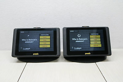 2x Presto Ela Carte Elacarte E La Carte Guest Ordering & Pay Touch Tablet