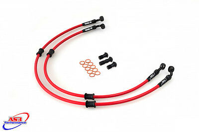Kawasaki Zx9R Zx 9 R 1994-1997 As3 Venhill Braided Front Brake Lines Hoses Race