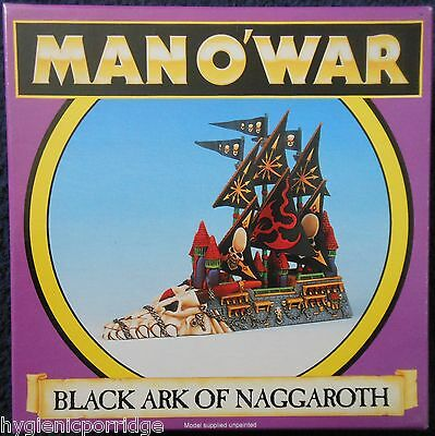 1993 Man O' War Dark Elf Black Ark of Naggaroth Games Workshop MOW Elven Ship GW