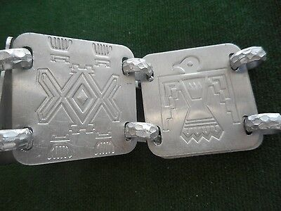 """INDIAN GUIDES, YMCA 5 (1 1/2"""") PIECE ALUMINUM BRACELET...DATES TO EARLY 1970's"""
