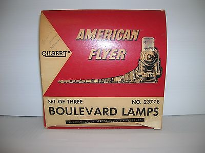 "American Flyer ""Boulevard Lamp Set # 23778 boxed and working lot # 10798"
