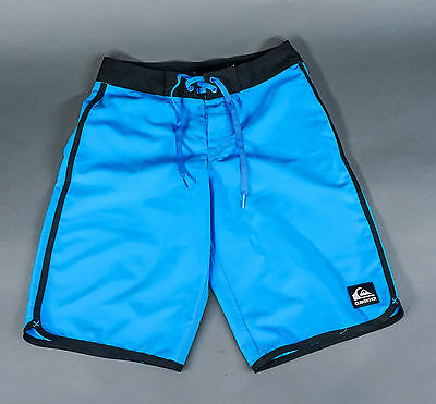 "Quiksilver Boys Swim Suit Trunks Board Shorts Blue Black Size 12 (26"") EUC"