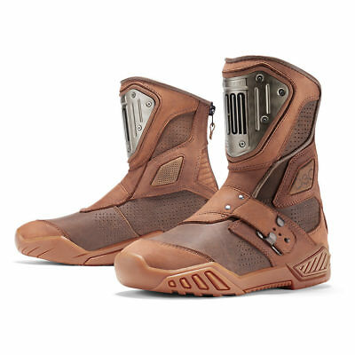 Icon 1000 Mens Brown Retrograde Motorcycle Boots