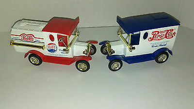 Vintage Special Edition Diecast Pepsi Cola Gift Bank Trucks