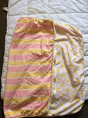Amy Coe Crib Duvet And Insert Reversible Yellow/ White Polka Dot And Pink/Yellow