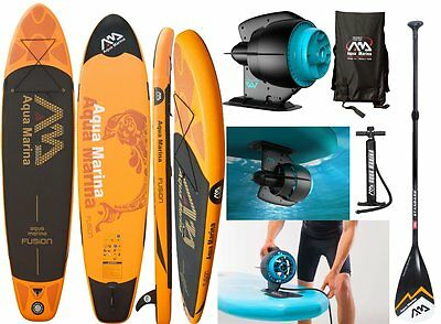 AQUA MARINA FUSION SUP inflatable Stand Up Paddle with BlueDrive Power Motor