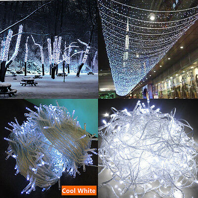 500LED 100M String Fairy Lights SAA Xmas Bright White Wedding Party Decora