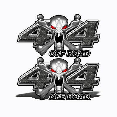 4X4 OFF ROAD Decals BLACK SKULL Graphic Truck Mk400OR4