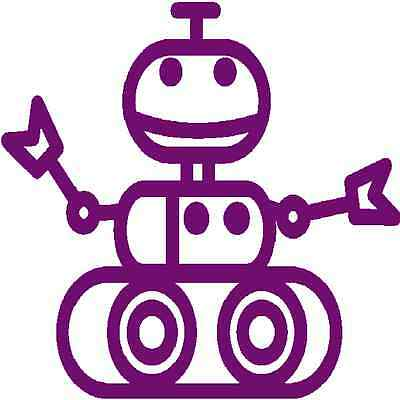 30 Custom Little Purple Robot Rover Personalized Address Labels