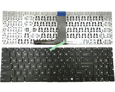 NEW For MSI Steelseries CX62 Gaming keyboard US UI NO FRAME White printing
