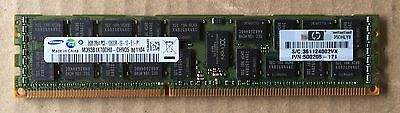 32gb (4 x 8GB ) DDR3-1333 PC3-10600R Registered Server HP P/N 500205-171 Memory