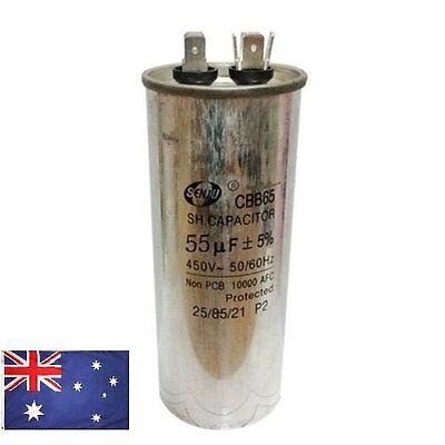 AU CBB65 450VAC 55uF Motor Capacitor Air Conditioner Compressor Start Capacitor