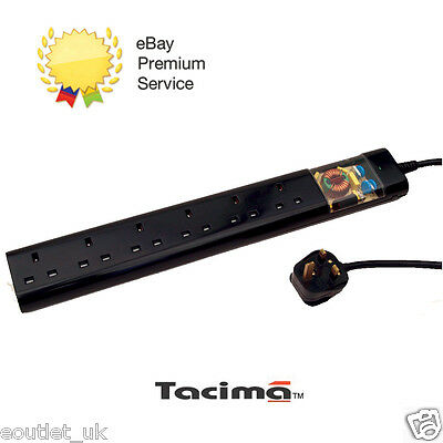 Tacima CS947 6Way Mains Conditioner with Surge Protection Interference Filter 2M