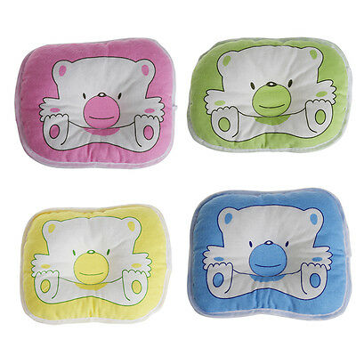 Toddler Kids Baby Soft Bedding Bear Oval Shape Shaping Pillow Prevent Flat Head