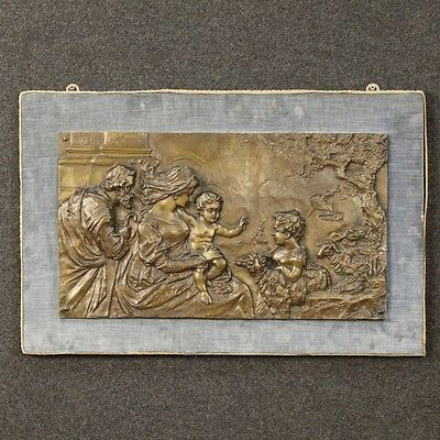 High Relief Bronze Chiseled Italian Theme Religious First '900 High-Relief