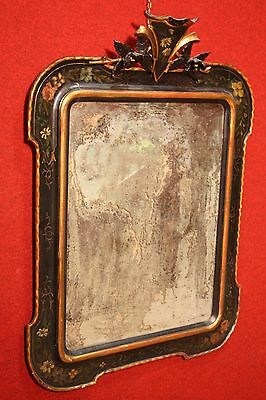 BELLA MIRROR PIEDMONT LACQUERED GOLDEN PAINTED FRAME TOP PERIOD '800 (H 116 cm)