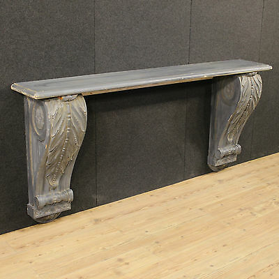 Console wall furniture wood paint and lacquered french stila ancient 900