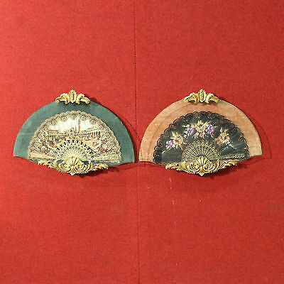 SPECIAL PAIR OF FANS ITALY VENICE PERIOD '900 (L 59 cm) ANTIQUES