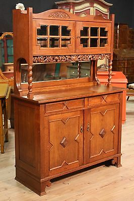 CUPBOARD WITH LIFTING UP DUTCH CARVED WOOD OAK PERIOD FIRST '900 L 129 cm