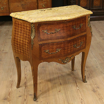 Small Dresser Dresser Furniture Two Drawers Marble Mahogany Bronze France '900