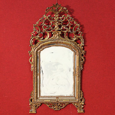 Scenographic Mirror Torino Wood Paint Golden Period First '900 (H 187)