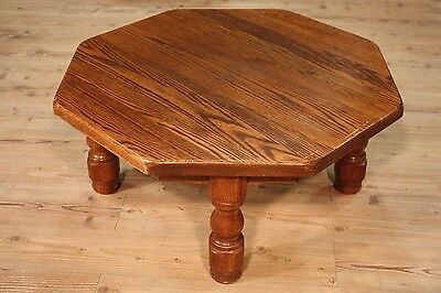 Low table living room furniture rustic wood oak sculpted cabinet antique style