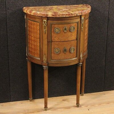 Dresser chest of drawers commode furniture inlaid marble antique style louis XVI