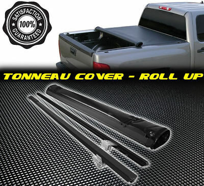 Roll Up Lock Soft Tonneau Cover For 07-13 GMC Sierra 1500 2500 3500 6.5ft Bed