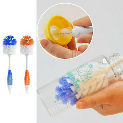 Spin 2 in 1 Newborn Baby Teapot Feeding Milk Bottle Cup Cleaning Nipple Brush