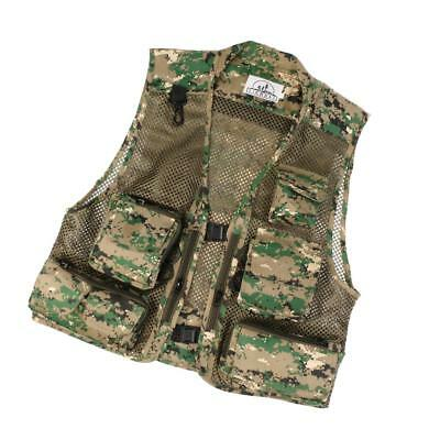 Breathable Sports Canvas Mesh Fishing Hunting Vest Photography Jacket 3XL