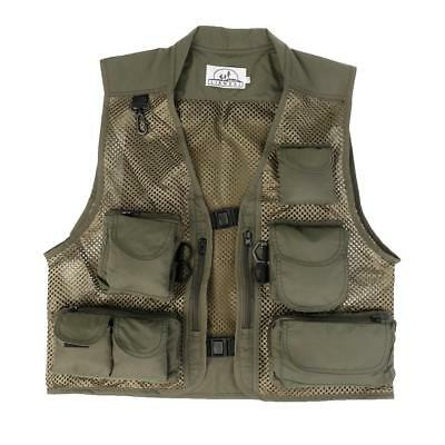 Breathable Sports Canvas Mesh Fishing Hunting Vest Photography Jacket L