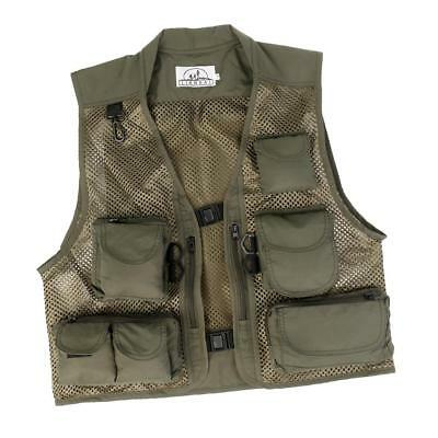 Breathable Sports Canvas Mesh Fishing Hunting Vest Photography Jacket 2XL