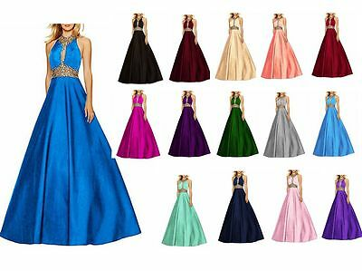New Long Chiffon Bridesmaid Prom Dresses Formal Wedding Evening Party Gown 6-22