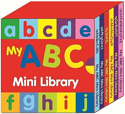 6 x PRESCHOOL ABC MINI LIBRARY BOARD BOOKS LEARN THE ALPHABET LETTERS 2639ABCM