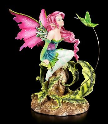 Elfen Figur mit Vogel - Flirting Fairy by Amy Brown - Fee Statue Fairy Fantasy